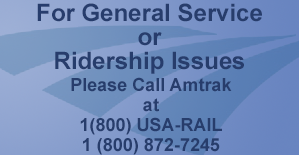 For passenger issues call 1-800-872-7245